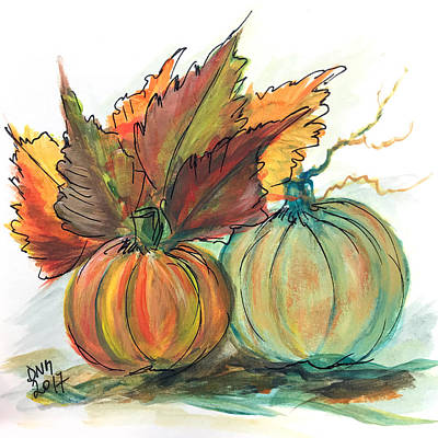 Painting - Just Pumpkins by Dorothy Maier