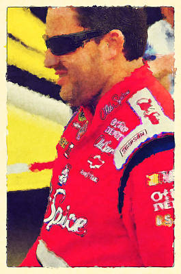 Tony Stewart Digital Art - Just Racin' Ix by Dennis Wright aka The Mellow One