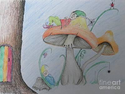 Just Relax Art Print by Evie Hanlon