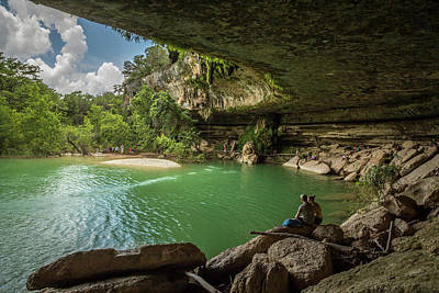 Hamilton Pool Photograph - Just Relaxing by Tom Weisbrook