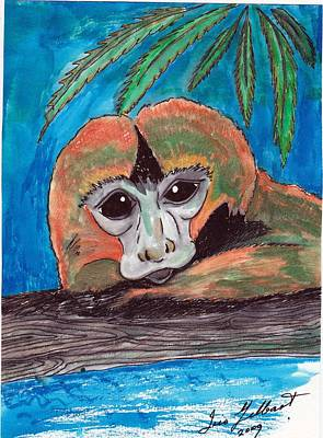 Drawing - Just Resting by Iris Gelbart