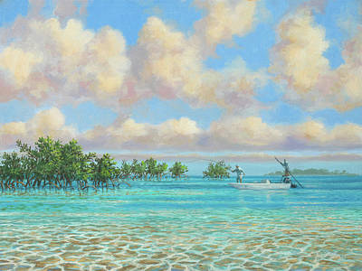 Wall Art - Painting - Bonefishing The Bahamas by Guy Crittenden