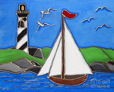 Painting - Just Sailing By by Cynthia Snyder