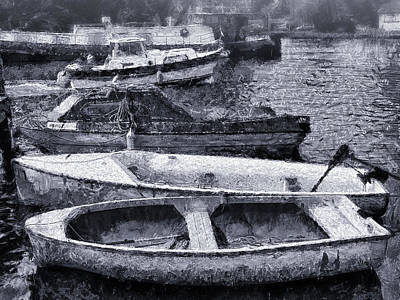 Digital Art - Just Some Boats by Leigh Kemp