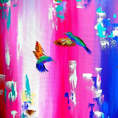 Hummingbird Painting - Just Splendid by Cathy Jacobs