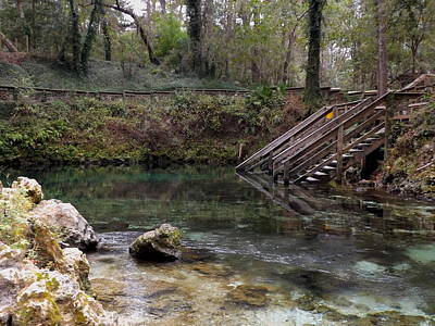 Photograph - Just Steps To Fun At Madison Blue Springs by Julie Pappas