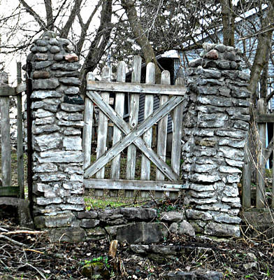Photograph - Just The Gate by Cyryn Fyrcyd