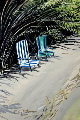 Sandy Beach Painting - Just The Two Of Us by Elizabeth Robinette Tyndall