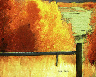 Autumn Landscape Mixed Media - Just The Way It Is by Lenore Senior