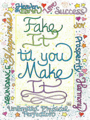 Drawing - Just Until You Make It by Debi Hammond