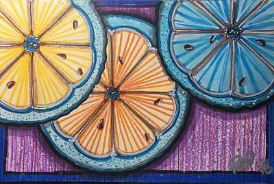 Grapefruit Drawing - Just Us Citrus by Regina Jeffers