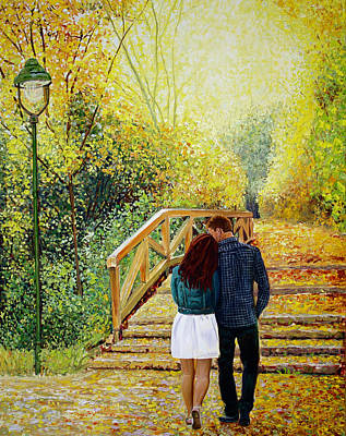 Painting - Just Walking by Manuel Lopez