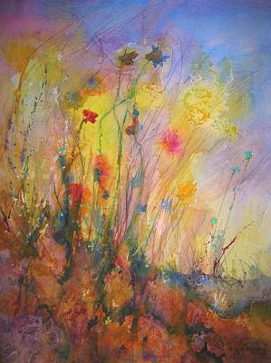 Just Weeds Art Print by Mary Schiros