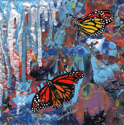 Overcoming Painting - Just When The Caterpillar Thought The World Was Over by Michelle Dooley