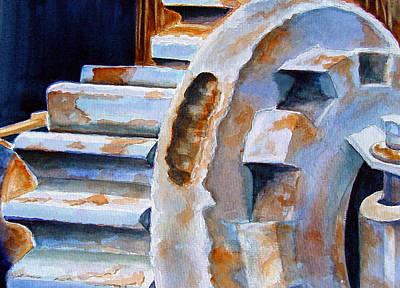 Rust Painting - Just Won't Budge by Marsha Elliott