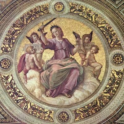 Raffaello Santi Painting - Justice - 1509-11 by Raphael Sanzio de Urbino