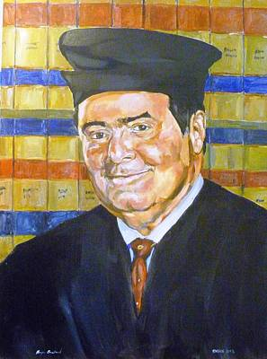 Painting - Justice Antonin Scalia by Bryan Bustard