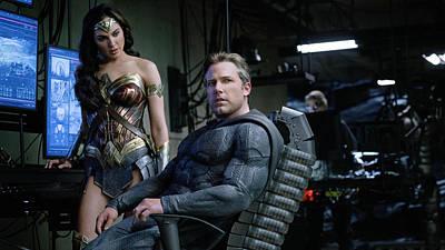 Ben Affleck Digital Art - Justice League Ben Affleck Gal Gadot 4k by Shania Torn