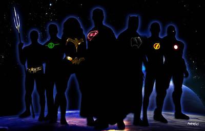 Maravilla Photograph - Justice League by PedrazArt Digital Designs
