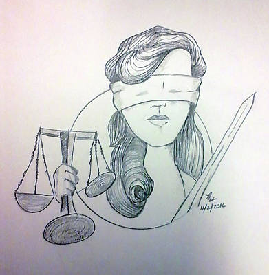 Painting - Justice by Loretta Nash