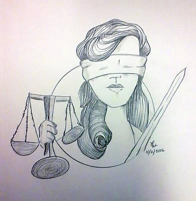 Justice Art Print by Loretta Nash