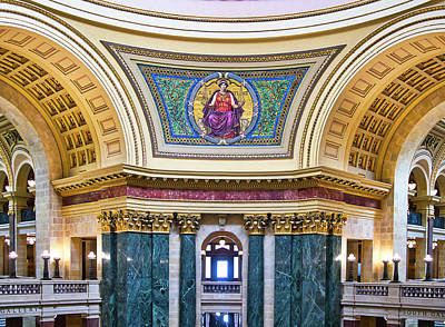 Photograph - Justice Mural - Capitol - Madison - Wisconsin by Steven Ralser