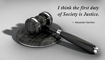 Photograph - Justice Quote By Alexander Hamilton by Daniel Hagerman