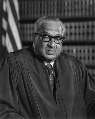 Justice Thurgood Marshall 1908-1993 Art Print by Everett