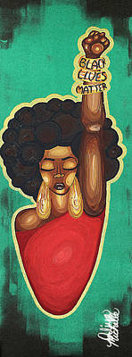 African American Art Painting - Justice Wanted by Aliya Michelle