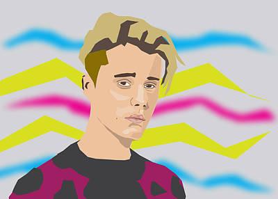 Justin Bieber 2016 Art Print by Michael Chatman