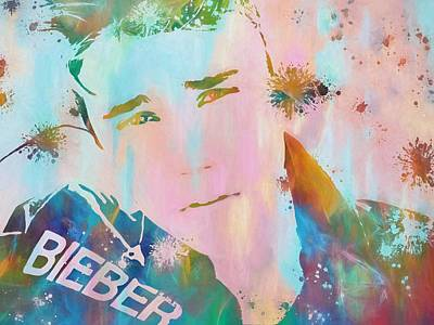Bieber Painting - Justin Bieber by Dan Sproul