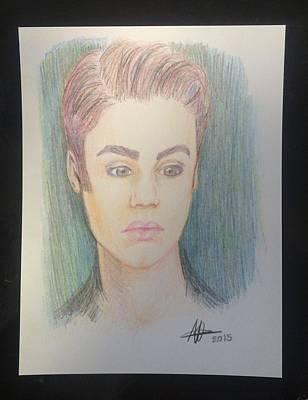 Justin Bieber Art Drawing Drawing - Justin Bieber by Heidi Vickers