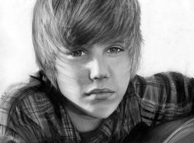 Justin Bieber Art Print by Nat Morley