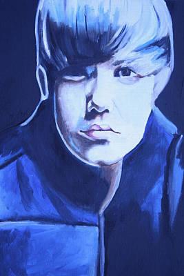 Bieber Painting - Justin Bieber Portrait by Mikayla Ziegler