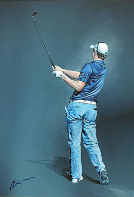 Painting - Justin Rose by Mark Robinson
