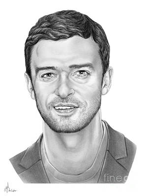 Justin Timberlake Drawings Drawing - Justin Timberlake by Murphy Elliott
