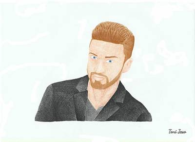 Justin Timberlake Drawings Drawing - Justin Timberlake by Toni Jaso