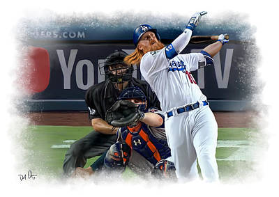 Digital Art - Justin Turner by Don Olea