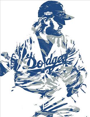 Los Angeles Dodgers Mixed Media - Justin Turner Los Angeles Dodgers Pixel Art 15 by Joe Hamilton