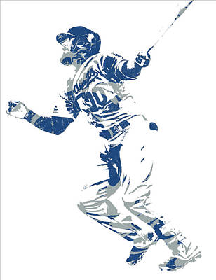 Mixed Media - Justin Turner Los Angeles Dodgers World Series Homerun by Joe Hamilton