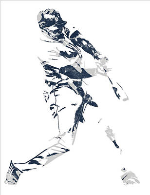 Mixed Media - Justin Upton Detroit Tigers Pixel Art 1 by Joe Hamilton