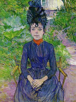 Lautrec Painting - Justine Dieuhl by Henri de Toulouse-Lautrec