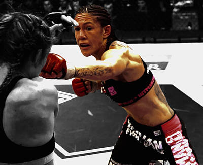 Justino Punching Marloes Coenen Art Print by Brian Reaves