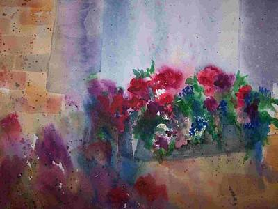 Painting - Jutta's Windowbox by Sandy Collier