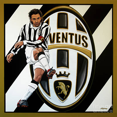 Juventus Fc Turin Painting Art Print by Paul Meijering