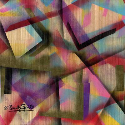 Jacob Lawrence Mixed Media - Juxtaposition - G by Everett Spruill