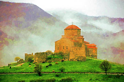 Mixed Media - Jvari In The Mist by Dennis Cox Photo Explorer