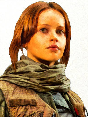 Star Alliance Painting - Jyn Erso Portrait - Pa by Leonardo Digenio