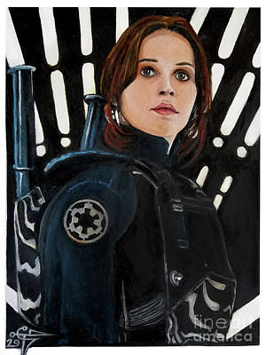 Painting - Jyn Erso by Tom Carlton