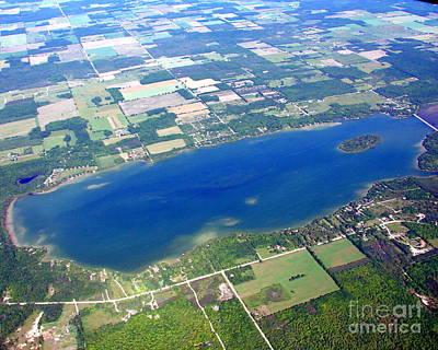 Photograph - K-002 Kangaroo Lake Door County Wisconsin by Bill Lang